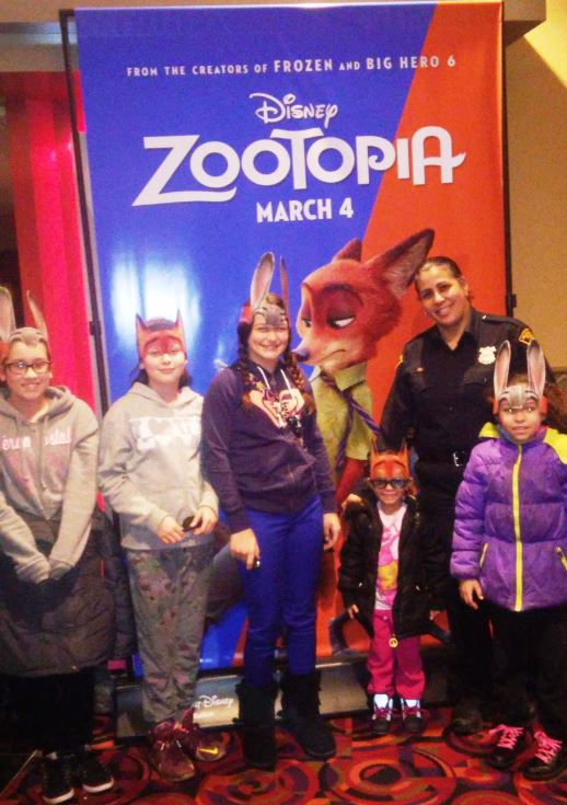 Officer Mercado and guests at ZOOTOPIA
